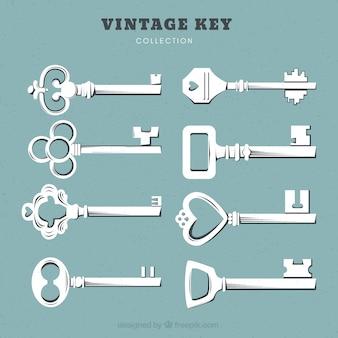 Colección de llaves vintage
