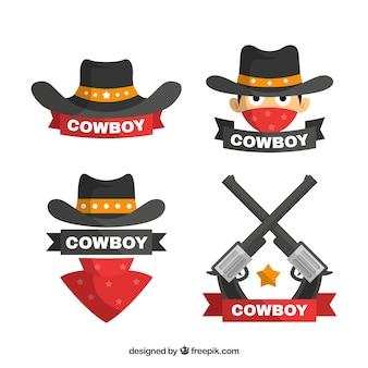 Colección de logo de cowboy