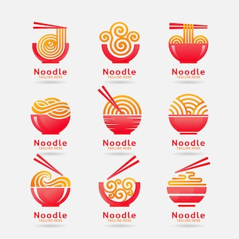 Colección de logo de fideos