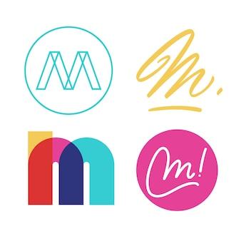Colección de logo m
