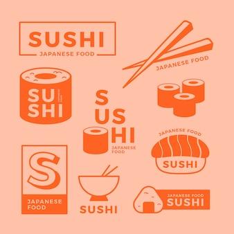 Colección de logo minimalista de dos colores