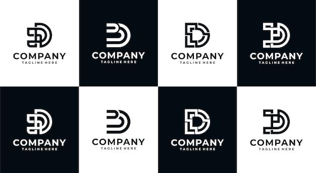 Colección de logo de monograma inicial d