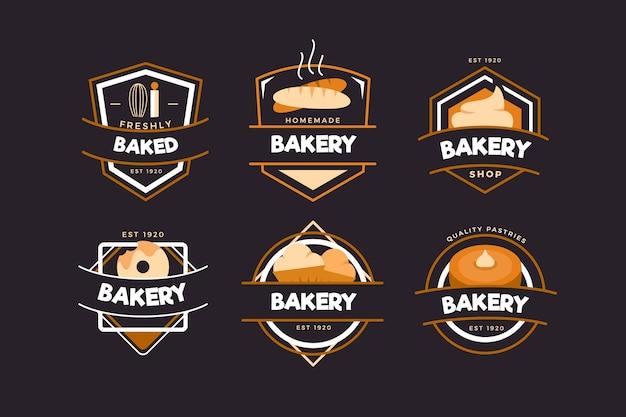 Colección de logo de panadería retro