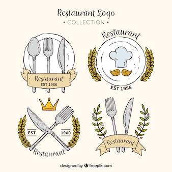 Colección de logo de restaurante