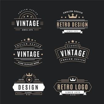 Colección de logo retro