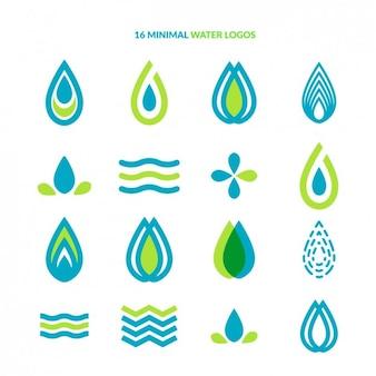 Colección de logos de agua minimalistas