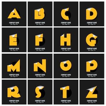 Colección de logos del alfabeto