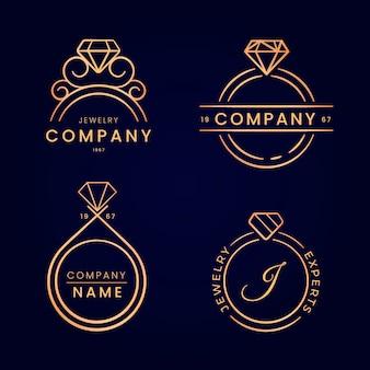Colección de logos de anillos degradados