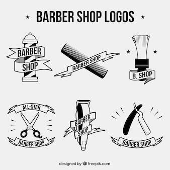 Colección de logos de barbero