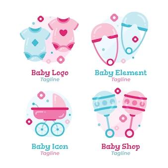 Colección de logos de bebés