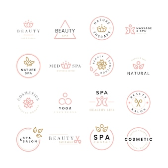 Colección de logos de belleza y spa.