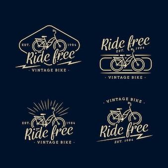 Colección de logos de bicicletas vintage
