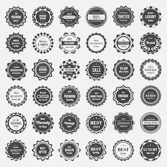Colección de logos en blanco y negro