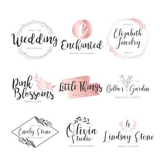 Colección de logos de boda