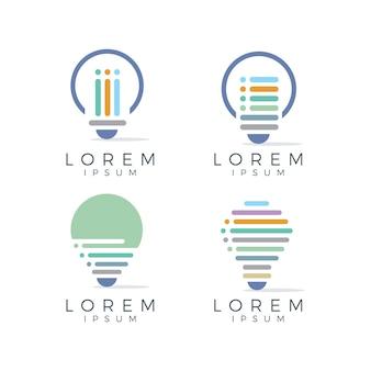 Colección de logos de bombillas