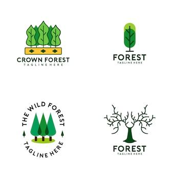 Colección de logos del bosque