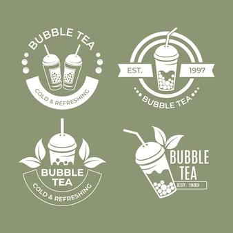 Colección de logos de bubble tea