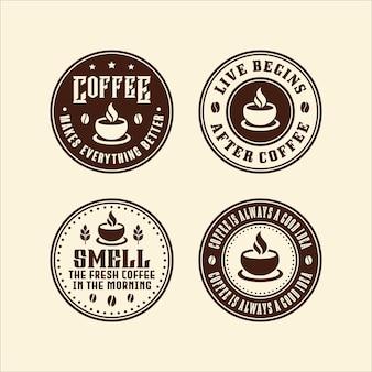 Colección de logos de café circular
