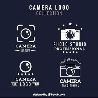Colección de logos de cámara geométrica