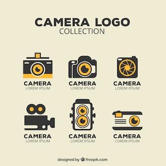 Colección de logos de cámara vintage