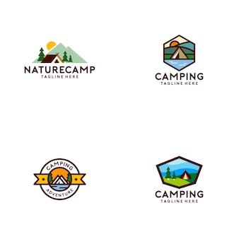 Colección de logos de campamentos