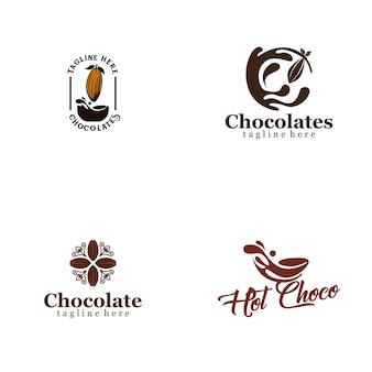 Colección de logos de chocolate