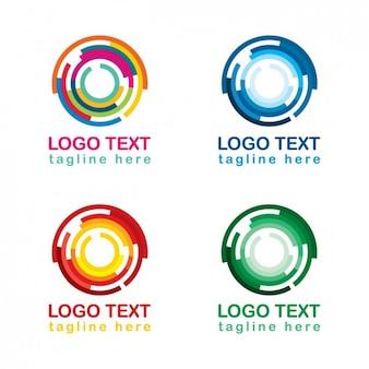Colección de logos circulares coloridos