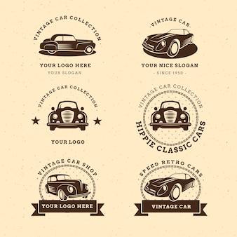 Colección de logos de coche vintage