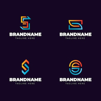 Colección de logos de colores degradados