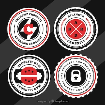Colección de logos de crossfit