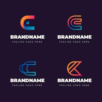 Colección de logos degradados c