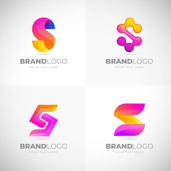 Colección de logos degradados de colores