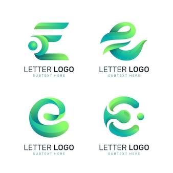 Colección de logos degradados e