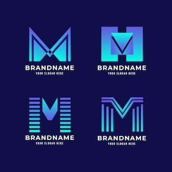 Colección de logos degradados m