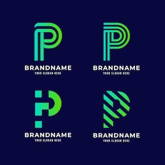 Colección de logos degradados p