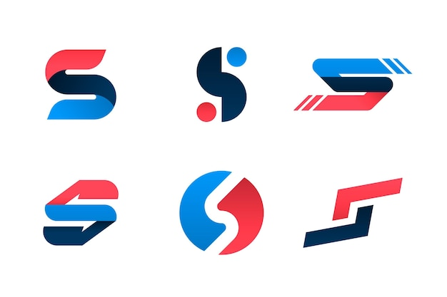 Colección de logos degradados s
