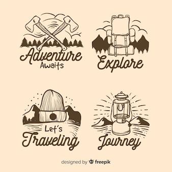Colección de logos dibujados a mano