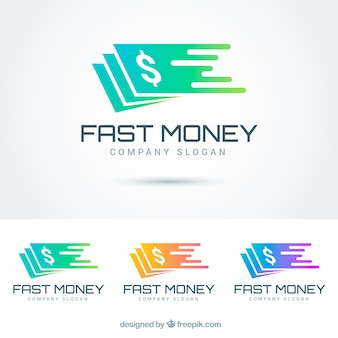 Colección de logos de dinero para empresas