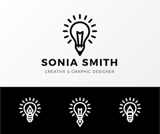 Colección de logos de diseñadores gráficos planos