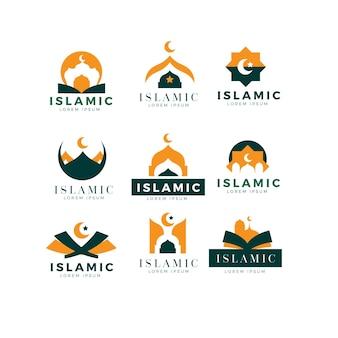 Colección de logos de diseño islámico
