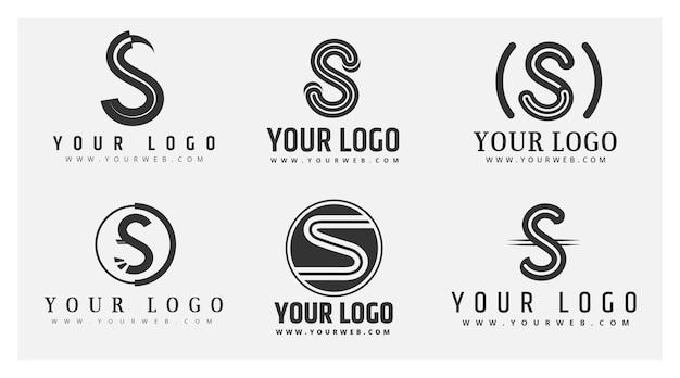 Colección de logos de diseño plano s