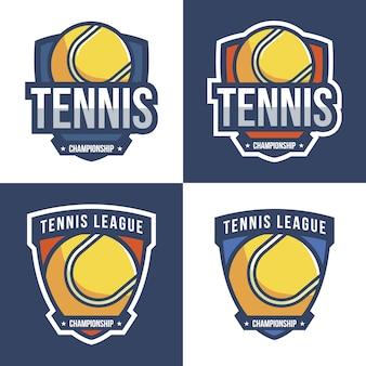 Colección de logos con diseño de tenis