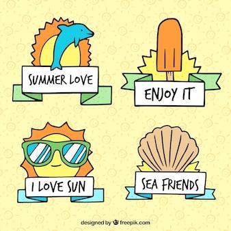Colección de logos divertidos de verano