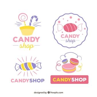 Colección de logos de dulcería para empresas