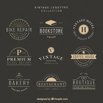 Colección de logos elegantes y estilosos en diseño vintage