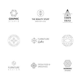 Colección de logos elegantes