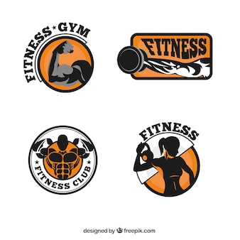 Colección de logos de fitness