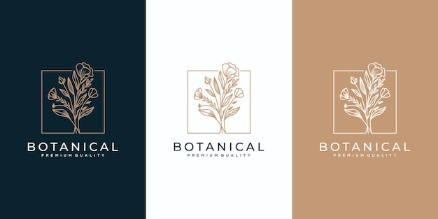 Colección de logos florales femeninos