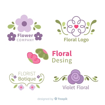 Colección de logos floristas de boda