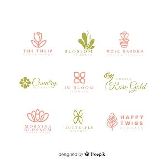Colección de logos para la floristería de bodas.